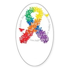 LGBT-Butterfly-Ribbon-blk Decal