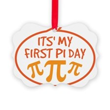Babys First Pi Day Ornament