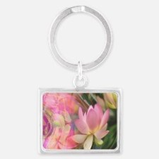 mug, lotus flower,great,all sen Landscape Keychain