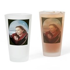 button,beautiful art print,mother,c Drinking Glass