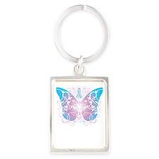 Transgender-Butterfly-A-blk Portrait Keychain