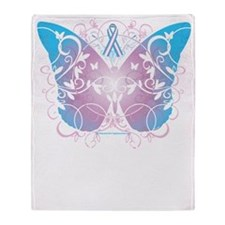 Transgender-Butterfly-A-blk Throw Blanket
