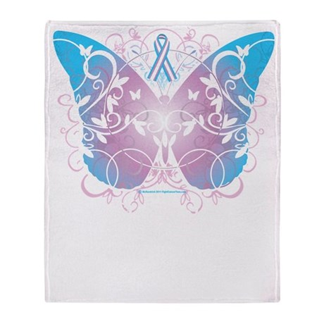Transgender-Butterfly-A-blk Throw Blanket