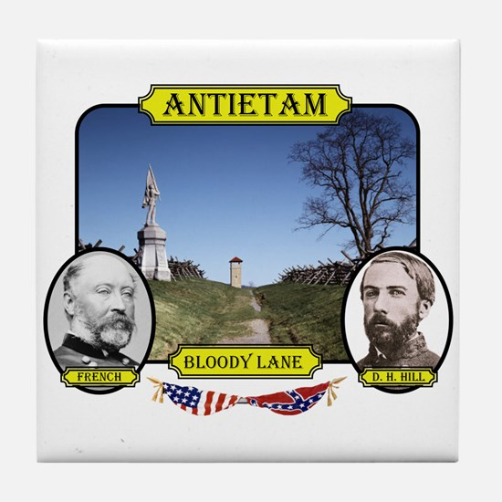 Antietam-Bloody Lane Tile Coaster