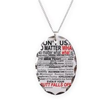 No Matter What Poster Necklace Oval Charm