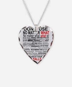 No Matter What Poster Necklace Heart Charm