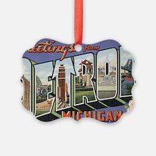 detroit postcard Ornament