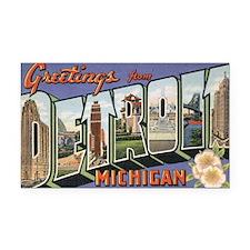 detroit postcard Rectangle Car Magnet