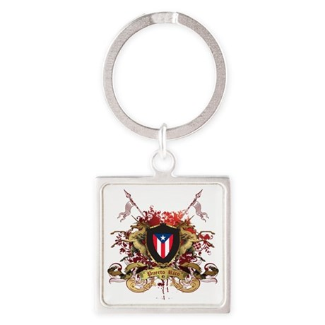 puerto rico Square Keychain
