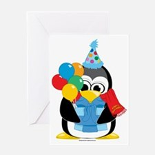 Happy-Birthday-Penguin-Scarf Greeting Card