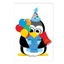 Happy-Birthday-Penguin-Sc Postcards (Package of 8)