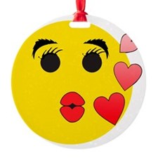 valentine smiley1 Ornament