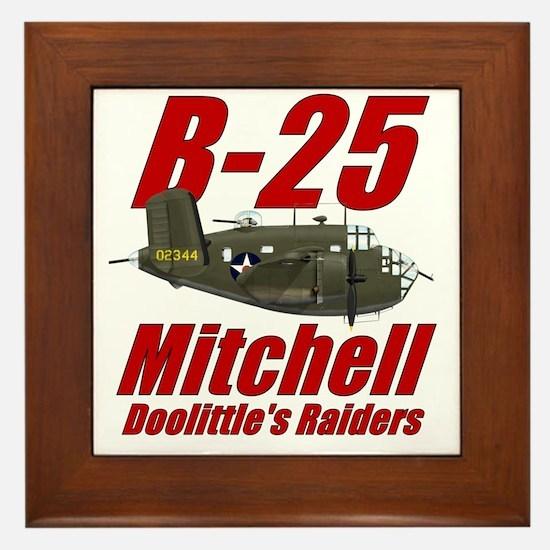 B25 Doolittes RaidersTee Framed Tile