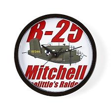 B25 Doolittes RaidersTee Wall Clock