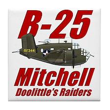 B25 Doolittes RaidersTee Tile Coaster