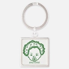 baby3 Square Keychain
