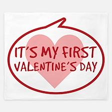 Babys First Valentines Day King Duvet