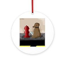 DogHydrantColor Round Ornament