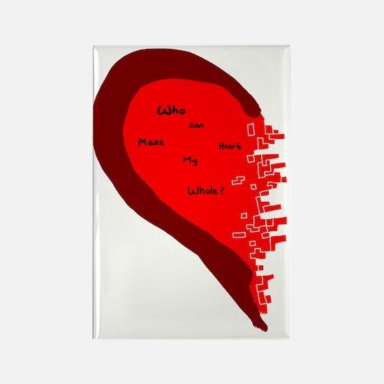 heart whole Rectangle Magnet