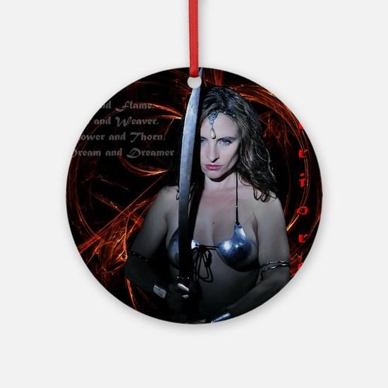 Warrioress Round Ornament