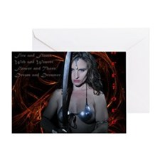 Warrioress Greeting Card