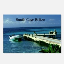 boat dock South Caye Beli Postcards (Package of 8)