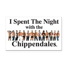 Spent the Night Rectangle Car Magnet