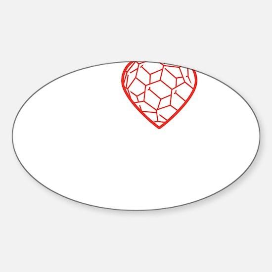 I heart Nano tshirt transparent Sticker (Oval)