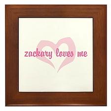 """""""zackary loves me"""" Framed Tile"""