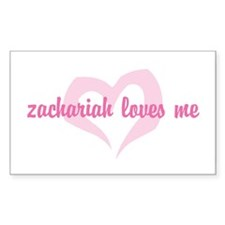 """""""zachariah loves me"""" Rectangle Decal"""