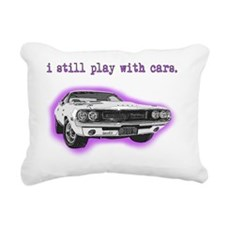 dodge_challenger_purple Rectangular Canvas Pillow