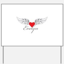 Angel Wings Evelyn Yard Sign