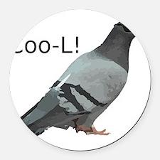 cool_pigeon_big Round Car Magnet