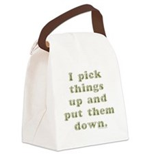 I Pick Things Up (by Deleriyes) Canvas Lunch Bag