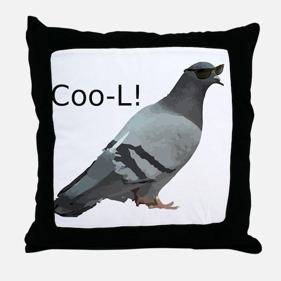 cool_pigeon_big Throw Pillow