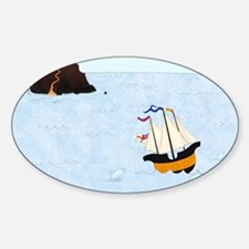 Sailing by the Castle Square Decal