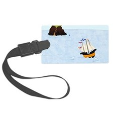 Sailing by the Castle Square Luggage Tag