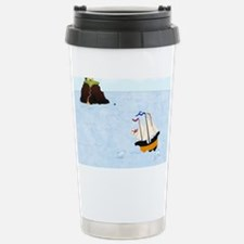 Sailing by the Castle Square Travel Mug