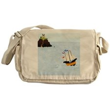 Sailing by the Castle Square Messenger Bag