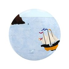 "Sailing by the Castle Square 3.5"" Button"