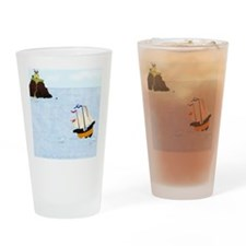 Sailing by the Castle Square Drinking Glass