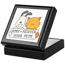 Spay or Neuter (Banner) Keepsake Box