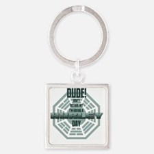 lost_hurley_day Square Keychain