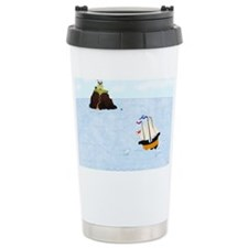Sailing by the Castle 5 x 7 Travel Mug