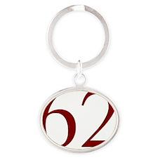 62 Oval Keychain