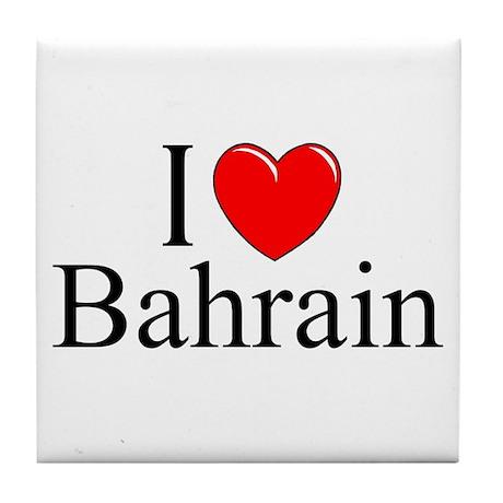 """I Love Bahrain"" Tile Coaster"