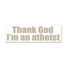 god atheist shirt Car Magnet 10 x 3