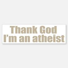 god atheist shirt Sticker (Bumper)