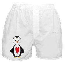 Heart Penguin Boxer Shorts
