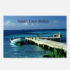 boat dock South Caye Beli Postcards (Package of 8)